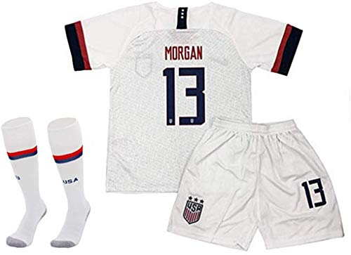 Rowex New Morgan 13 USA Home Jersey & Shorts for Kids & Youths (X-Large - 11-13 Yrs Old) White