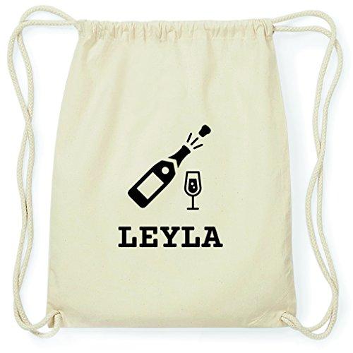 JOllify Turnbeutel Sylvester - Happy New Year - für Leyla - Sekt Champagner Prost