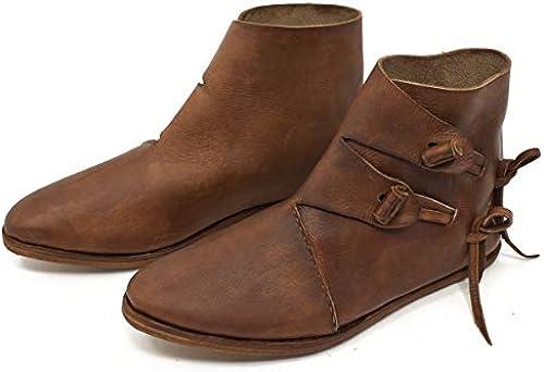 Vehi Vehi Vehi Mercatus Frühmittelalter Halbstiefel Wikinger Schuhe mit Profilnagelung Dunkelbraun doppelt besohlt  bekannte Marke