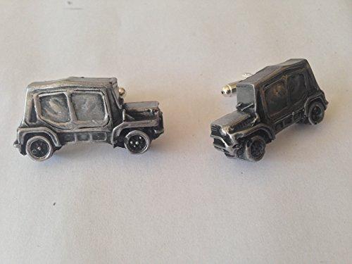 Mini Moke SE mit Kapuze und Seitenscheiben 3D-Manschettenknöpfe Zinn-Manschettenknöpfe Oldtimer ref148