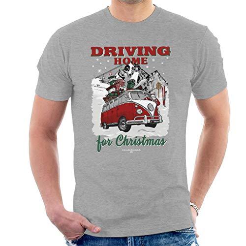 Volkswagen Santa Driving Home for Christmas Men's T-Shirt Heather Grey