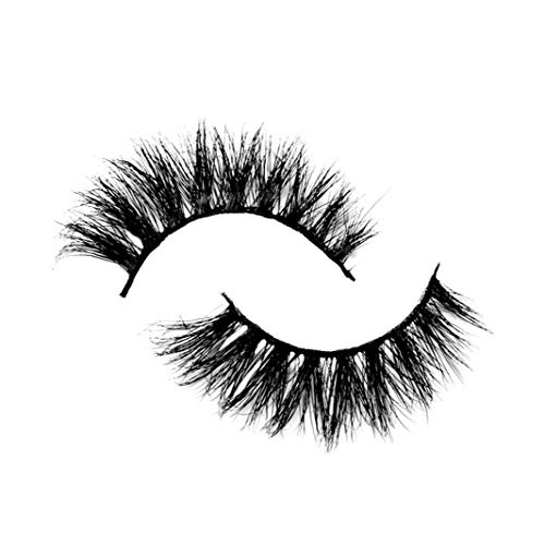 lujiaoshout Mink Wimpern 3D Wimpern dick Curly Mode Lashes Wiederverwendbare Mink Wimpern Dramatische Künstliche Wimpern 1 Paar