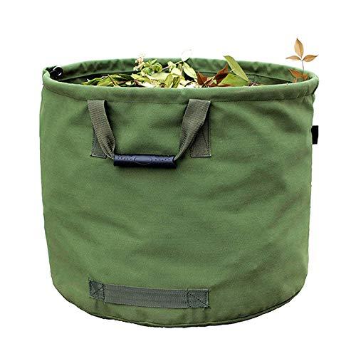 WHT Sacco da Giardino 125L Resistenti con Manici, Sacchetto Foglie Verdi con Tessuto Militare Canvas (H45.7 cm, D55.8 cm)