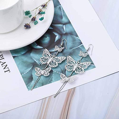 Jovono - Orecchini a forma di farfalla, alla moda, con nappa, per donne e ragazze