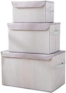 MU Grande boîte de rangement de vêtements, boîte de rangement en tissu, boîte de rangement pliable,gris