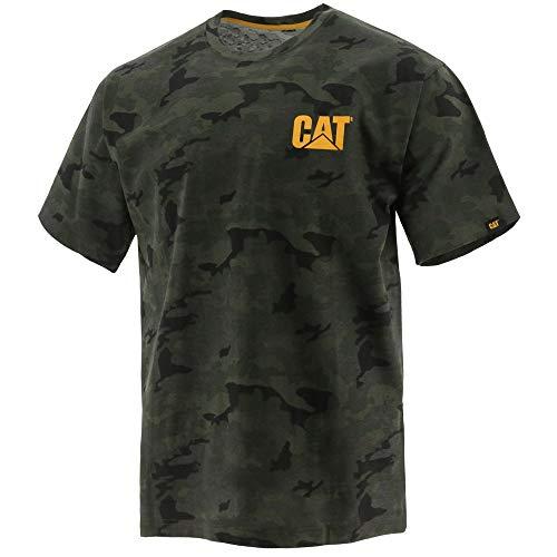 Caterpillar Herren Trademark Tee T-Shirt, Night Camo, Klein