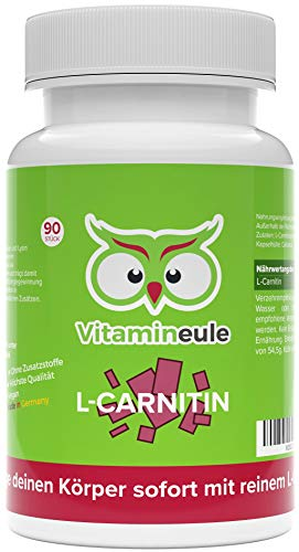 L Carnitin Kapseln hochdosiert - 500mg L-Carnitin Tartrat - höchste Qualität aus Deutschland - ohne Zusatzstoffe - reines L-Carnitintartrat - Vitamineule®