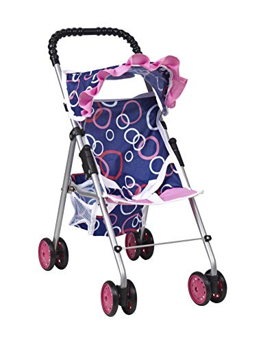 My first Doll Stroller -Super Cute Doll Stroller for Girls - Doll Stroller Folds for Storage - Great Gift for Toddlers