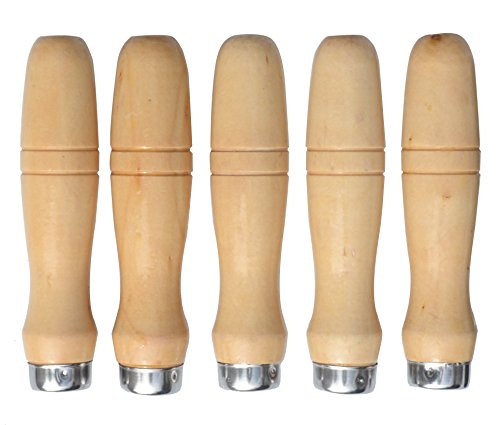 file handles Wooden File Handle with Strong Metal Collars for 7.5''-15'' File (5 Pack) (Large)