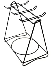 BSTONZON Triángulo Tazas de Acero Inoxidable Copas Placas Tazas de café Soporte Colgante Organizador de Cocina Estante de Secado (para 6 Tazas 6 Platos)