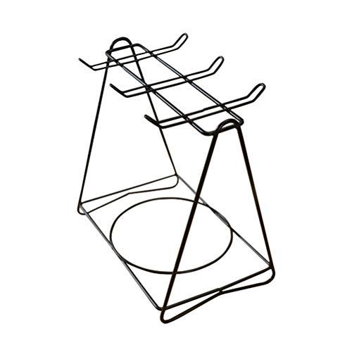 UPKOCH Albero Porta Tazze Porta tazzine da caffè e piattini per 6 tazzine scolapiatti da Cucina in Acciaio Inox
