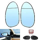 Espejo de cristal calefactado Asférico azul izquierdo + derecho 0657838 reemplazo para B-MW 1 series E81 E87 E88 E82 3 series E90
