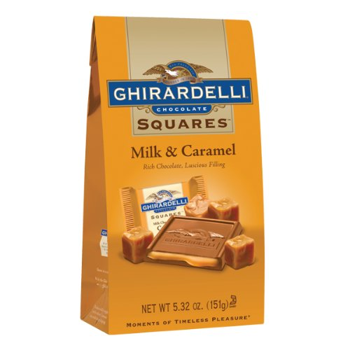 Ghirardelli Milk Chocolate Caramel Filled Squares Bag, 5.32 Oz