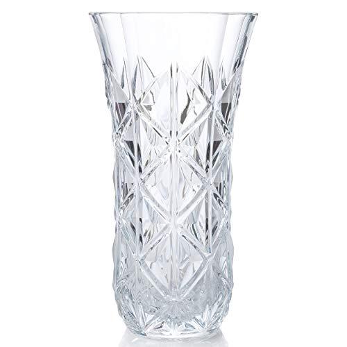 RCR 26251020206 Dekorative Enigma Blumenvase aus Luxion-Kristallglas, 30cm, Krystal, Vase, 30 cm