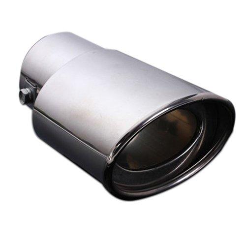 Silenciador de cola de tubo de escape - TOOGOO(R)Silenciador de cola de tubo de escape de coche de cromo y acero inoxidable de extremidad de 62MM