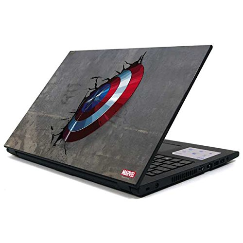 Skinit Decal Laptop Skin Compatible with Inspiron 15 3000 Series - Officially Licensed Marvel/Disney Captain America Vibranium Shield Design
