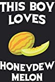 This Boy Loves Honeydew Melon Notebook : Simple Notebook,  Awesome Gift For Boys , Decorative Journal for...