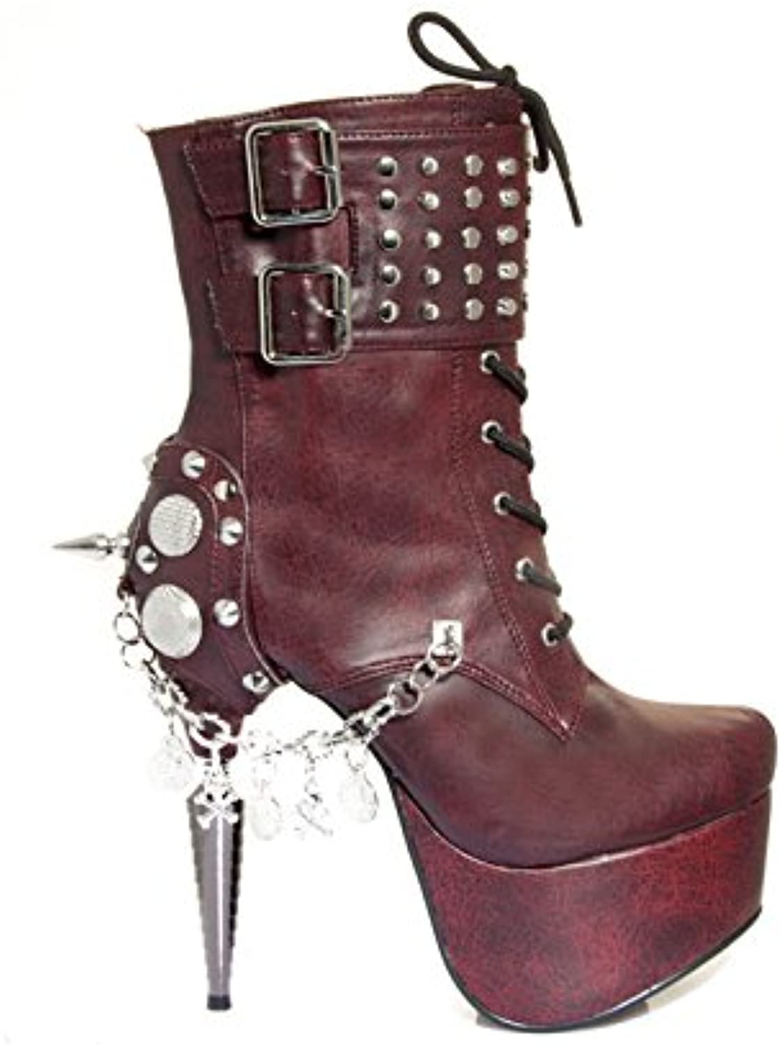 Hades shoes H-Artemis Rhino Collection Heel 9 Burgundy