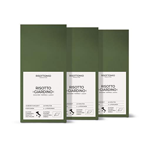Risotto-Reis-Mischung Zucchini Paprika Lauch (3x 250 g) Bio-Carnarolli aus Italien