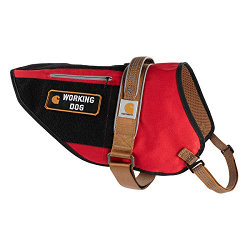 Carhartt Pet Vests, Service Dog Harness, L, High Risk Red/Carhartt Brown