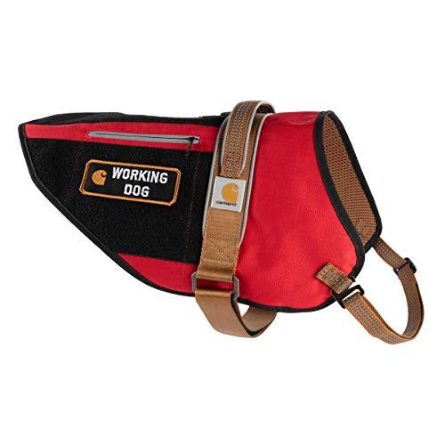 Carhartt Pet Vests, Service Dog Harness, L, High Risk Red/Carhartt Brown