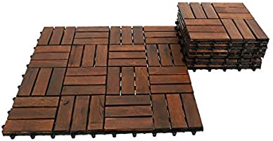 YATAI Wooden Floor Tiles, 31x31x3cm, Wood Decking Tiles, Floor Tiles, Office Floor Tiles, Home Floor Tiles, Diy Tiles,...
