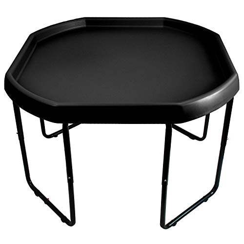 Black Mixing Play Tray 100cm Diameter & Height Adjustable Stand - For Fun & Messy Sand, Water & Glitter Play.