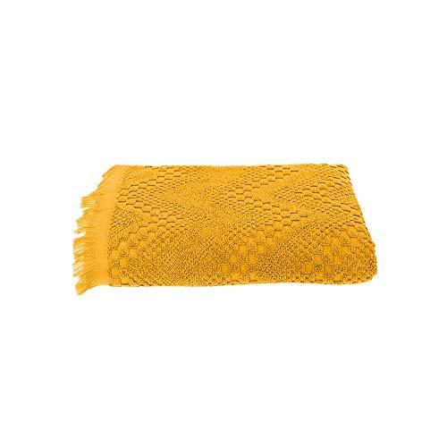 Garnier-Thiebaut BOHEME Serviette Eponge, Coton, Curry, 50 x 100 cm