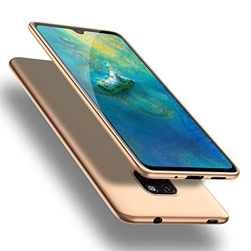 X-level Huawei Mate 20 Hülle, [Guadian Serie] Soft Flex Silikon Premium TPU Echtes Handygefühl Handyhülle Schutzhülle für Huawei Mate 20 Hülle Cover - Gold