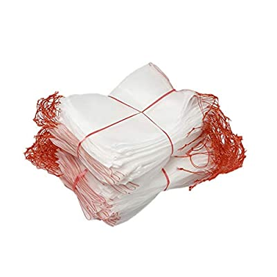 labworkauto Garden Netting Proctection Bags Mesh Netting Barrier Bag with Drawstring Protecting Plants Fruits Vegetables Against Insect Pest Bird 50pcs (5.9x3.9)