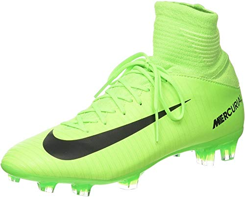 Nike Jr. Mercurial Superfly V FG, Scarpe da Calcio Uomo, Verde (Electric Green/Flash Lime/White/Black), 36.5 EU