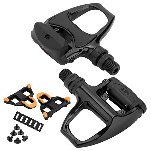 XEWEA Road Bike Pedals Cleats Set Compatible with Shimnao SPD SL Clipless Pedals, 320g/Pair,Lightweight Self-Locking Cycling Pedals for Shimnao SM-SH System Shoes Peloton Spin Bike