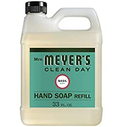 Mrs. Meyer's Liquid Hand Soap Refill, Basil, 33 fl oz (Pack of 1)