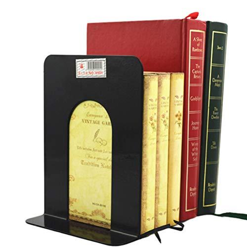 JINQIANSHANGMAO Librería 1 Pareja Vida Simple Plegable Portátil Portátil Sookends Titular de estantería Inicio Papelería Biblioteca Oficina Escuela Oficina Papelería Suministro (Color : Black)