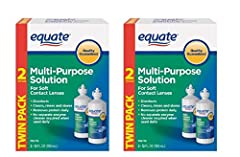 For Soft Contact Lenses. Disinfects Cleans, Rinses, and Stores. Removes Protein Daily. 2-Twin-Packs, 4 Bottles of 12 FL OZ (355 mL) each.