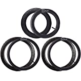 12.5'' Front and 16'' Back Wheel Replacement Tubes and Tires | Compatible with BoB Stroller Tire Tube Revolution SE/Pro/Flex/SU/Ironman - Made from BPA/Latex Free Butyl Rubber
