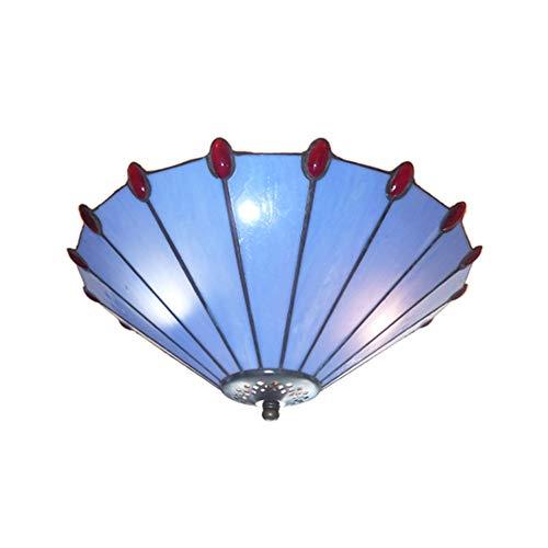 Lumière de Plafond LED Creative Simple Lustre Industriel Moderne pour Chambre Salon Salle de Bains éclairage allée,blue1,37x20cm
