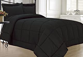 KingLinen Black Down Alternative Comforter Set Extra Long Twin XL