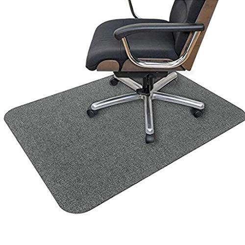 Bodenschutzmatte | Bürostuhl Unterlage | 90 x 140 cm | Hartboden | Verbesserte Version - Mehrzweck-Stuhlteppich für zu Hause (Dunkelgrau, 140x90cm)