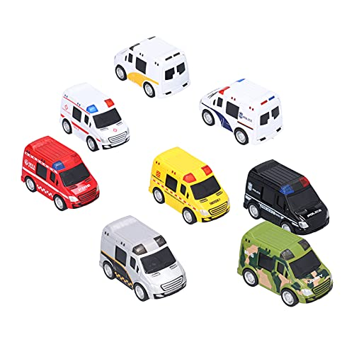 Tire hacia atrás del coche de juguete, 8 piezas de aleación de juguete fundido a presión, vehículos, mini bolsillo, aleación, modelo de coche, suministros para fiestas(8 piezas)
