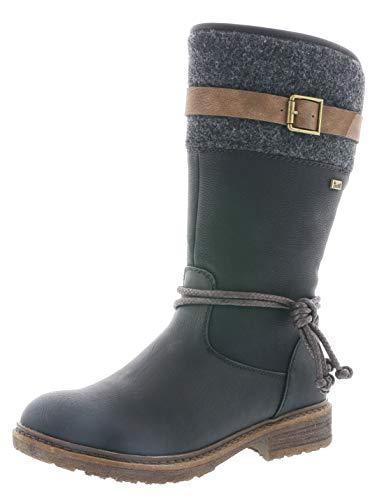 Rieker Tex Damen Stiefel 94778, Schwarz