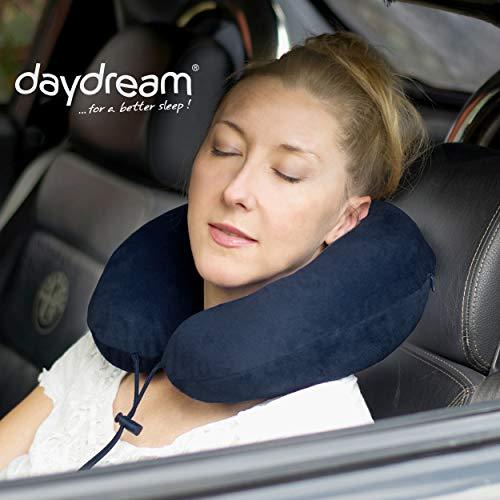 daydream PREMIUM-Reise-Nackenkissen mit Memory Foam, verschiedene Farben (N-5403),Nackenhörnchen, Reisekissen, Nackenstützkissen