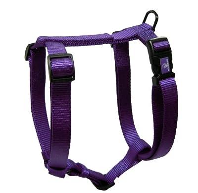 "Hamilton Adjustable Comfort Nylon Dog Harness, Purple, 5/8"" x 12-20"""