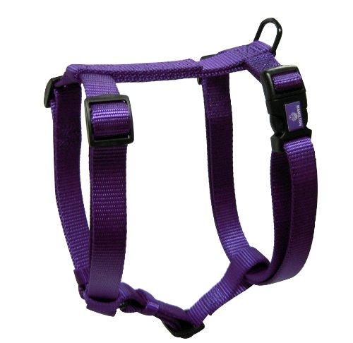 Hamilton Adjustable Comfort Nylon Dog Harness, Purple, 3/8' x 10-16'