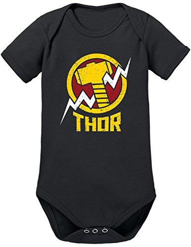 TShirt-People Body para bebé de Los Vengadores Thor negro 6-12 Meses