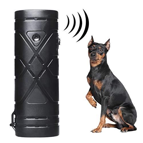 YHmall Anti-Bell-Mittel für Hunde, Anti-Bell Halsband Hund, 3 in 1 Anti-barke Handheld-Hundetrainingsgert, Ultrasonic Dog Bark Deterrent