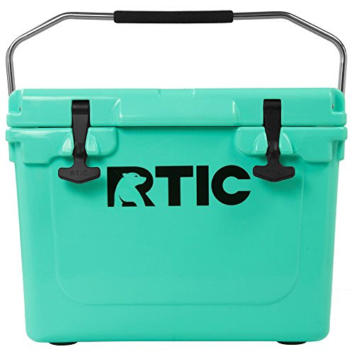 RTIC Ice Chest Hard Cooler, Heavy Duty Rubber Latches, 3 Inch Insulated Walls, 20 Quart