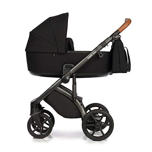Neuheit Original Roan Bass Next Reisesysteme Kinderwagen 2in1 3in1 4in1 Sonnenschirm + Originalzubehör Exclusive Prams (3in1, Black)