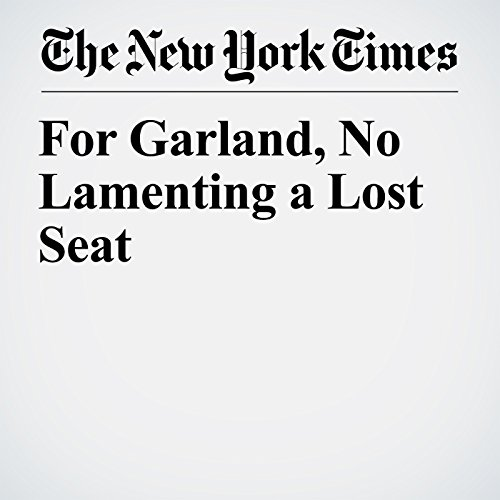 For Garland, No Lamenting a Lost Seat copertina