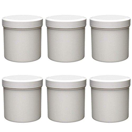mikken 6 x Leere Cremedose 125 ml Tiegel aus Kunststoff, lebensmittelecht, BPA frei, Made in Germany, 125ml